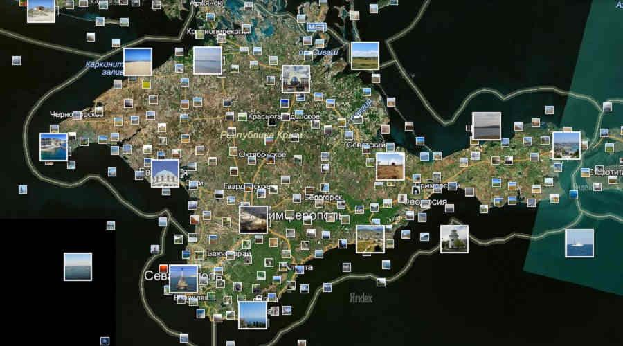 Карта побережья Крыма и его курортов