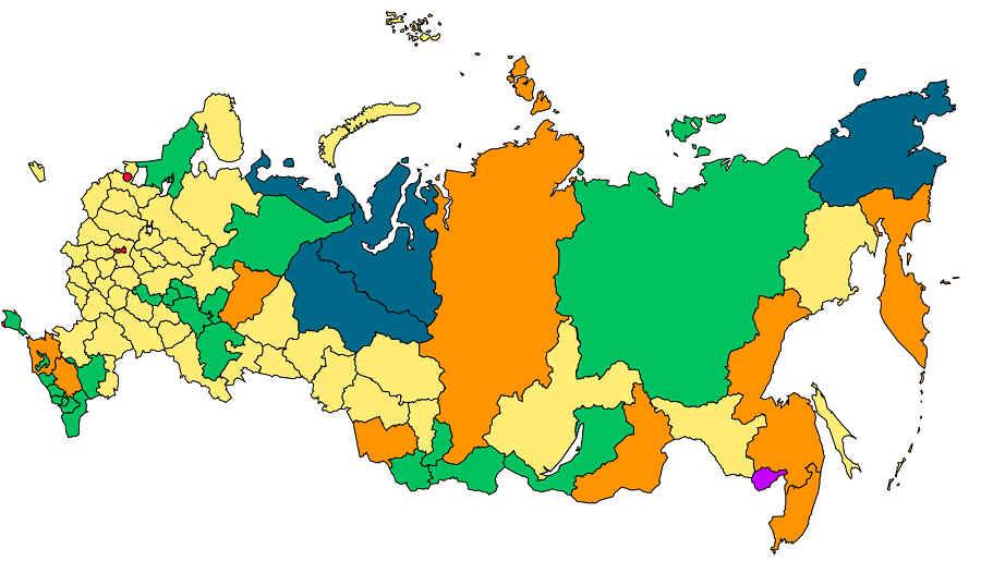 Республика Крым на карте России