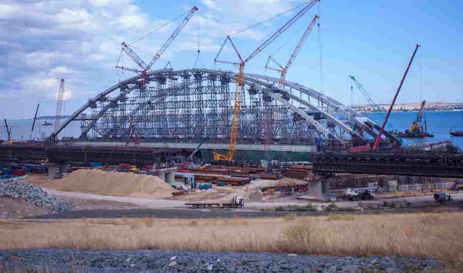 Ширина, вес и длина арки Керченского моста