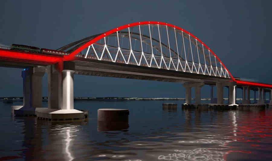 Установка арки Керченского моста онлайн